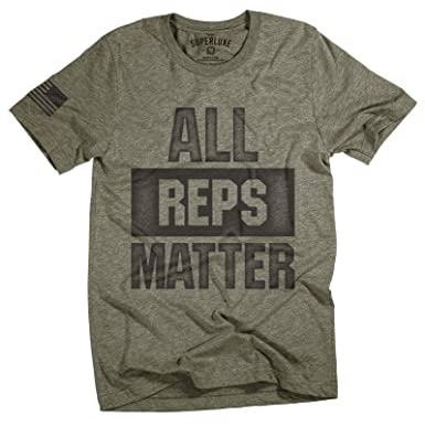 ae8e8eae Superluxe Clothing Mens All Reps Matter American Battle Flag Weightlifting  Bodybuilding Workout T-Shirt,
