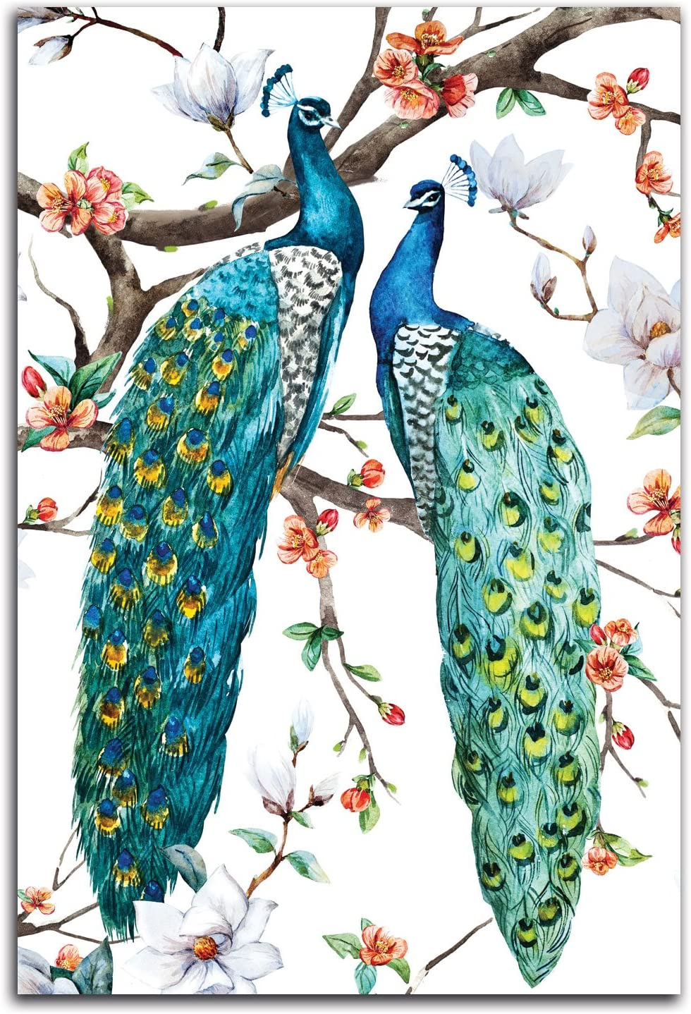 Gango Home Decor Vertical Paradis Birds I by Incado (Printed on Paper); One 12x18in Unframed Paper Poster
