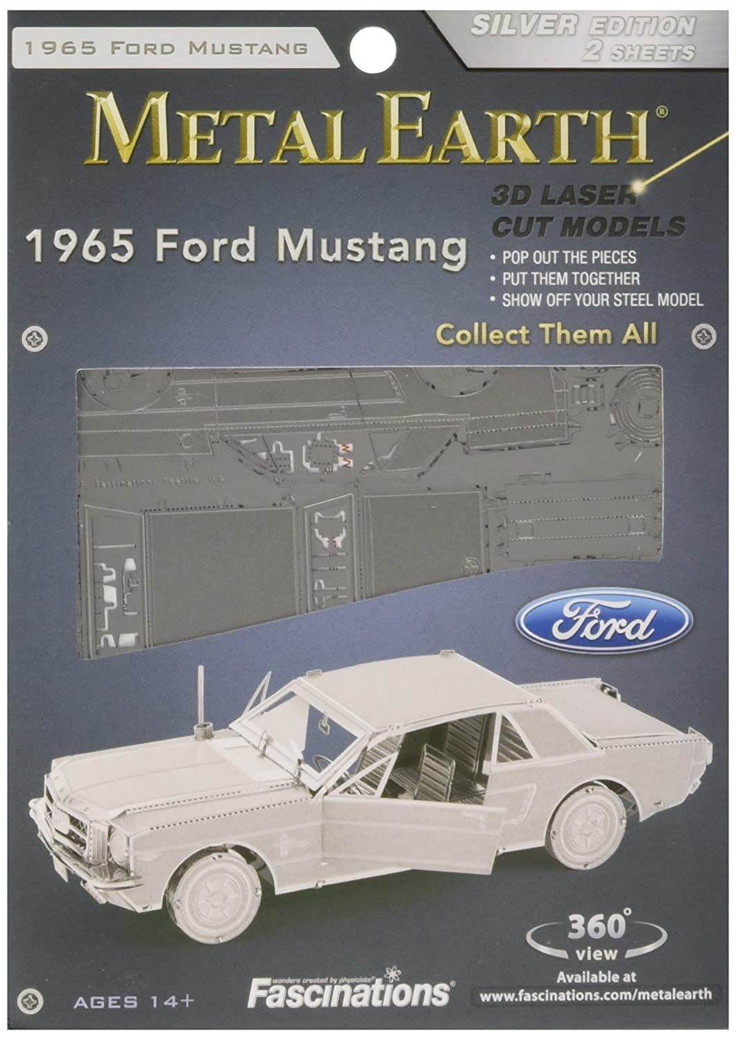 Fascinations metal earth 1965 ford mustang 3d metal model kit cars amazon canada