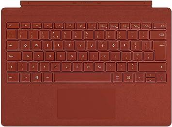 Microsoft - Funda con Teclado Surface Pro Signature Type Cover Rosso