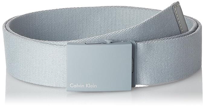 Calvin Klein Canvas Adj Plaque Belt, Ceinture Homme, Gris (Griffin 065), 786e3bee790