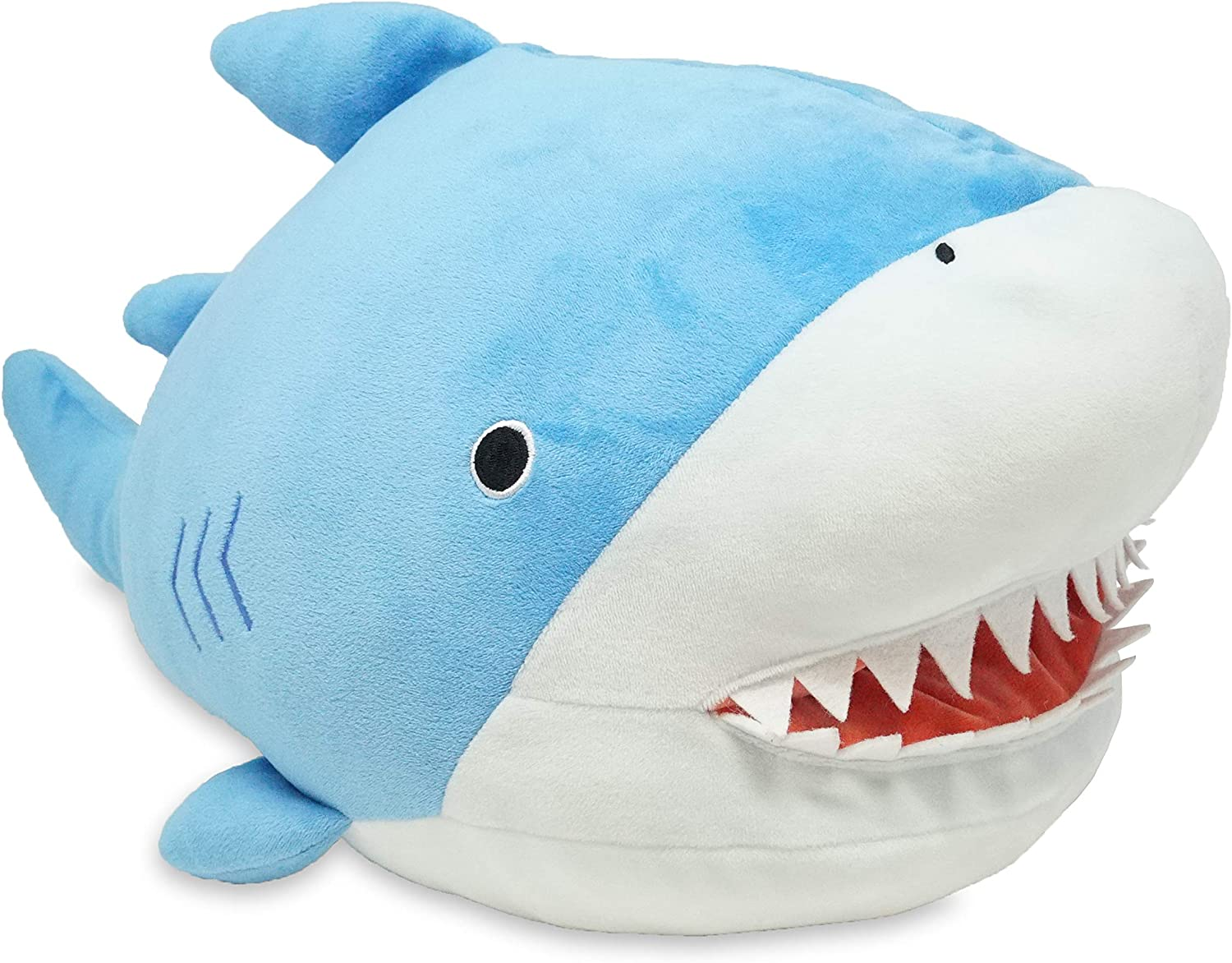 Cuddle Barn Cubby Tubbies Shark - Squishy Soft Shark Stuffed Animal Plush Toy with Large Mouth Pocket, 17""