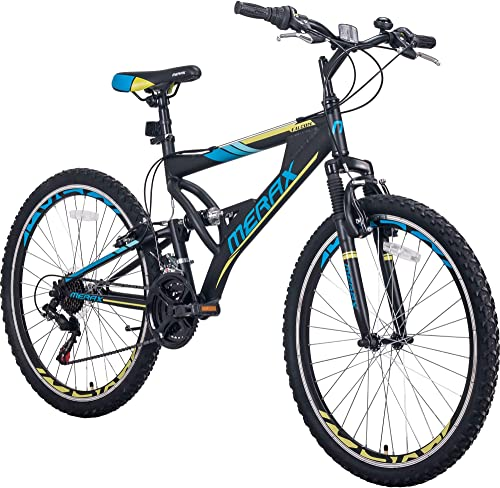 Merax FT323 Mountain Bike 21 Speed Full Suspension Aluminum Frame MTB Bicycle – 26 inch