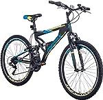 Merax FT323 Mountain Bike 21 Speed Full Suspension Aluminum Frame MTB
