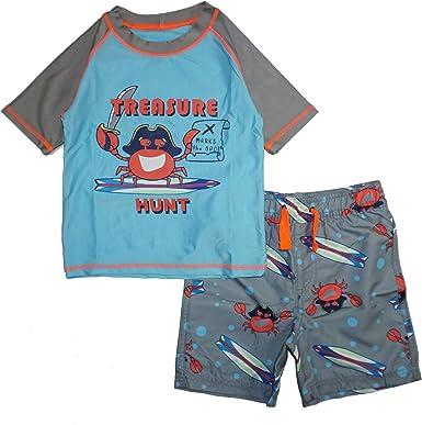 Rash Guard and Swimsuit Trunks Set Quicksand Boys 2-Piece UPF 50