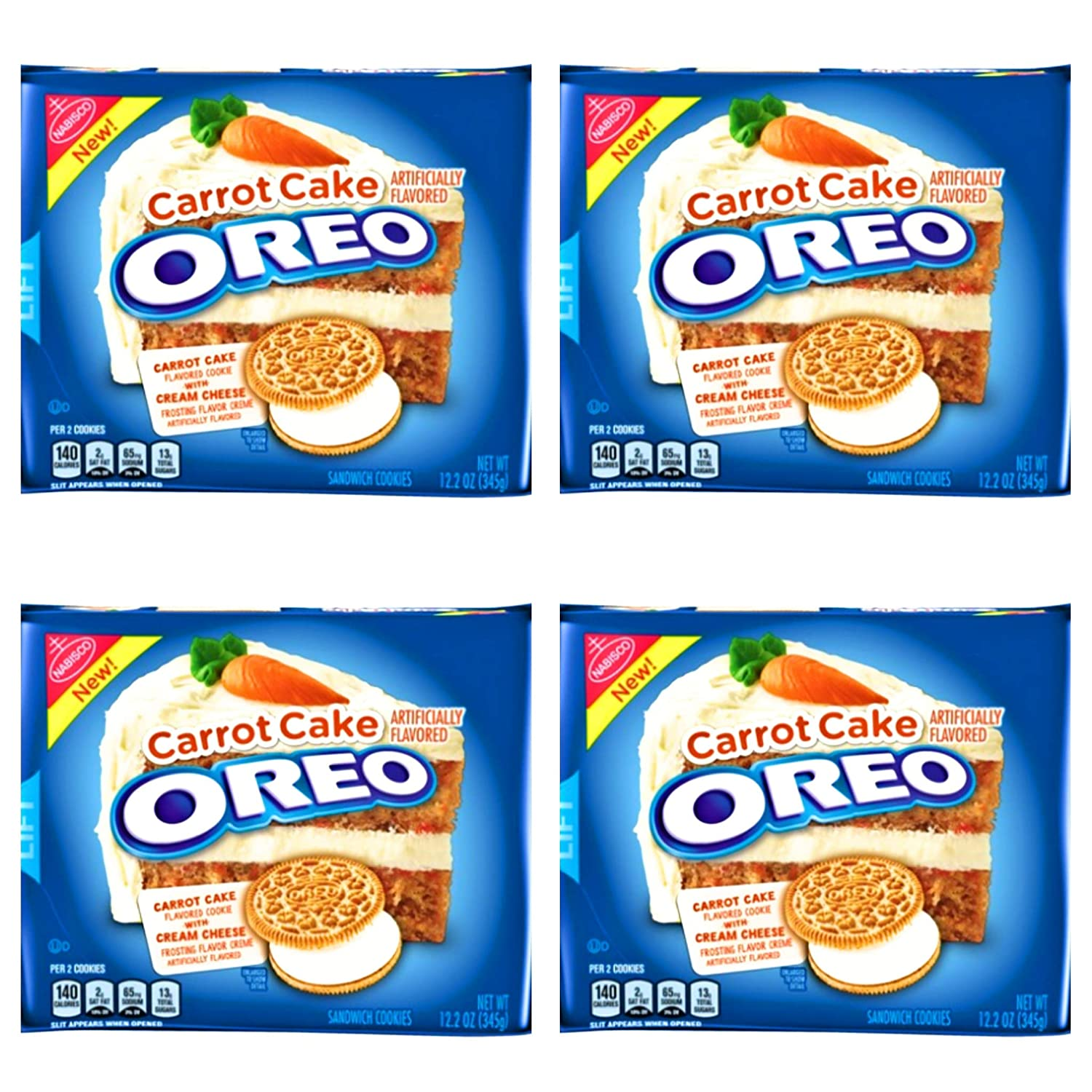 Amazon Com Oreo Carrot Cake Sandwich Cookies Pack Of 4 Bags