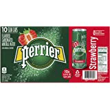 PERRIER Sparkling Natural Mineral Water Strawberry Flavour, 10x250 ml Slim Cans (Pack of 1)