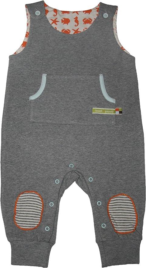 loud + proud - gris de 95% Bio-algodón 5% elastano, talla: 50/56cm (0-3 meses): Amazon.es: Bebé