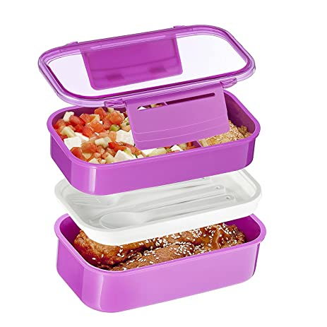 9170d5aacda Amazon.com  3 Compartment Food Container