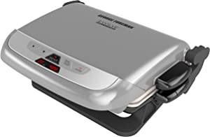 George Foreman GRP4842P Multi-Plate Evolve Grill With Ceramic Grilling Platesand Waffle Plates, Platinum