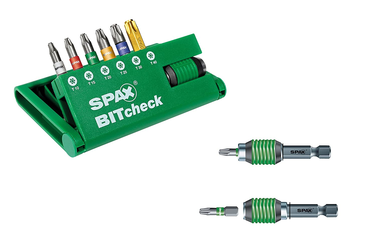 Spax Bitcheck T-Star plus 6  Bits (T10, T15, T20, T25, T30) Rapidaptor Bit Holder  –   5000009181309 T30) Rapidaptor Bit Holder - 5000009181309