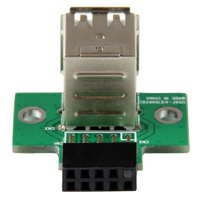 Amazon.com: StarTech.com 2 Port USB Motherboard Header Adapter  (USBMBADAPT2): Computers & Accessories