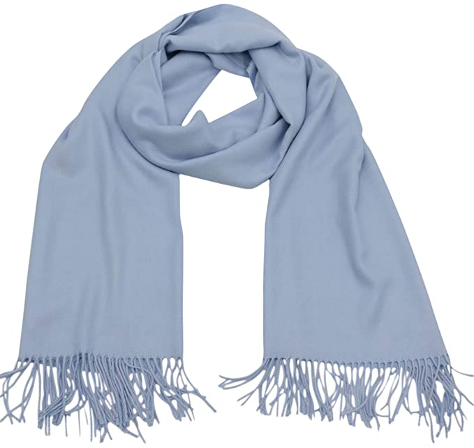 accabcc5827 Baby Blue Thick Solid Colour Design Cotton Blend Shawl Scarf Pashmina CJ  Apparel NEW  Amazon.co.uk  Clothing