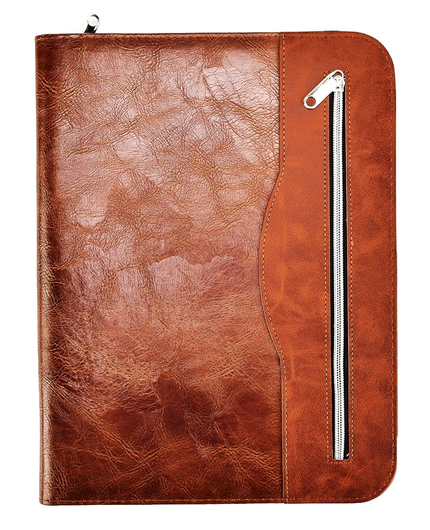 Arpan Soft Touch Conference Folder Portfolio A4 With Calculator & Pad - Chocolate Brown CL-512