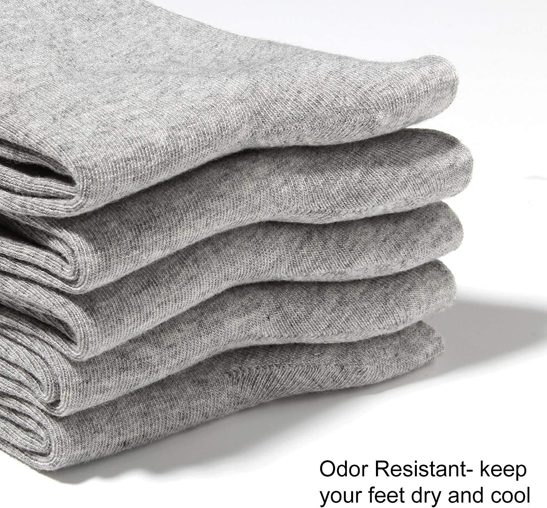 Women Crew Socks Bamboo sock Casual Quarter Breathable Odor Resistant Sock 5 Pairs Black