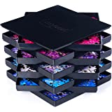 """8 Puzzle Sorting Trays with Lid 8"""" x 8"""" - Jigsaw Puzzle Accessories Black Background Makes Pieces Stand Out to Better Sort Pa"""