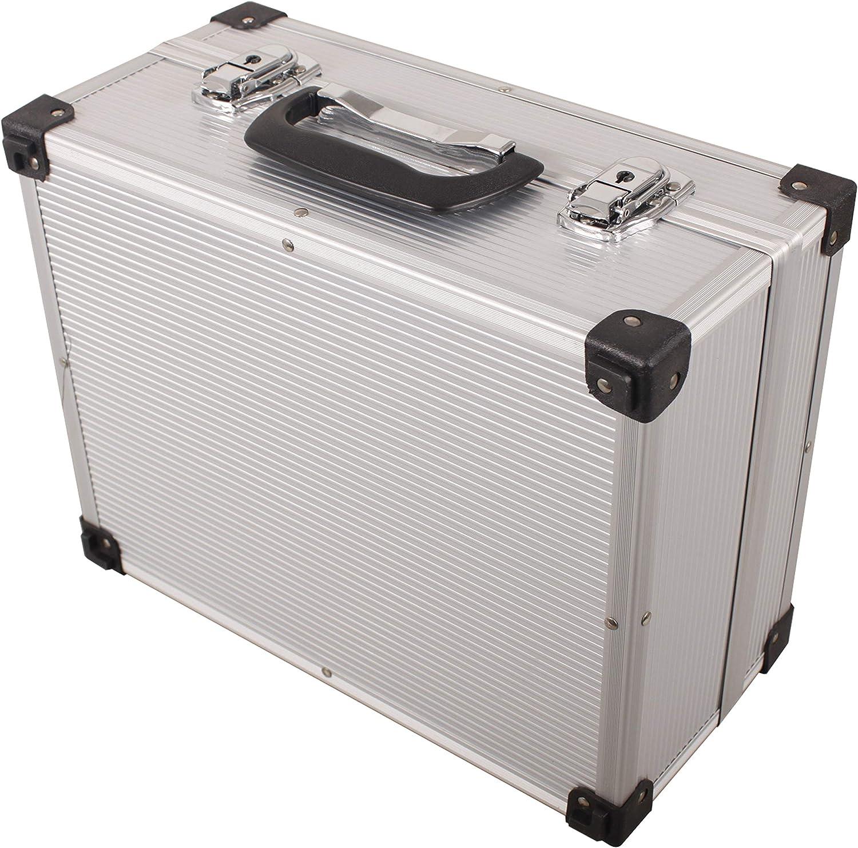 iWork L-80-003 - Maleta de aluminio para herramientas (34 x 27.6 x 16.2 cm) color plata - PROTECT