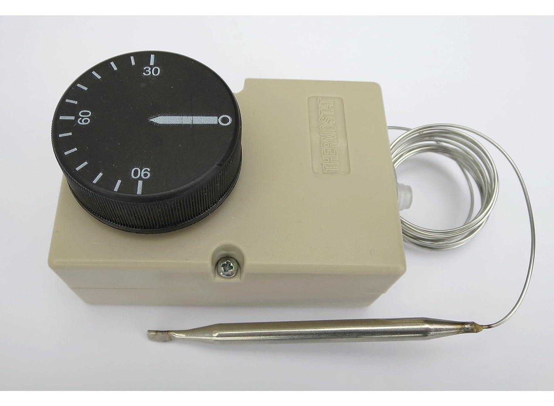 Thermostat Kapillar KTW Heizungs Regler 30-90/°C Schaltleistung 16A F/ühler 1500mm