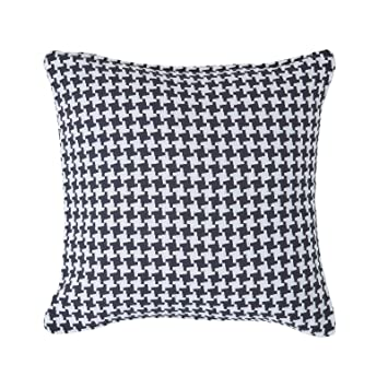Amazon.com: Homescapes Cojín de Houndstooth, 100% algodón ...