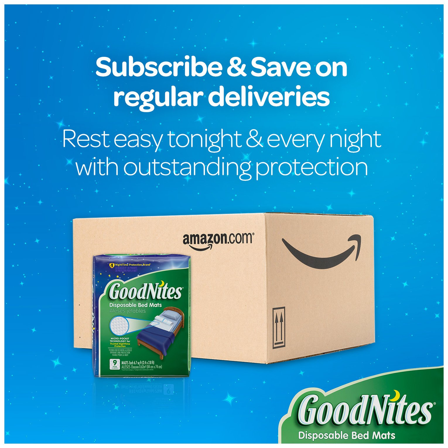 Galleon Goodnites Disposable Bed Pads For Nightime