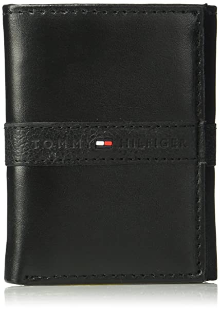 bf883680553 Tommy Hilfiger Men s RFID Blocking Leather Ranger Extra Capacity Trifold  Wallet