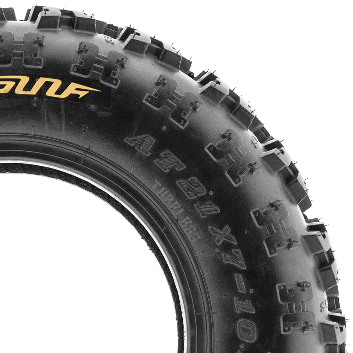 Set of 2 SunF A027 XC ATV UTV Knobby Sport Tires 23x7-10 6 PR Tubeless