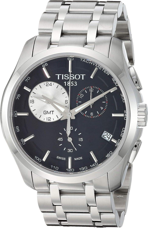 Tissot Mens Couturier Swiss Quartz Stainless Steel Dress Watch (Model: T0354391105100)