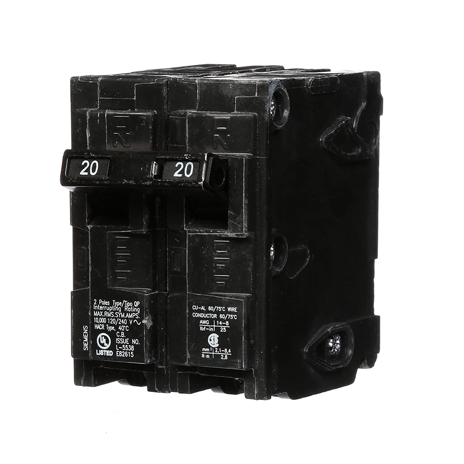 Q220 20 Amp Double Pole Type Qp Circuit Breaker Amazoncom