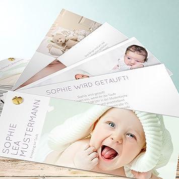 Taufe Einladungskarten Selber Machen Reines Herz 200 Karten