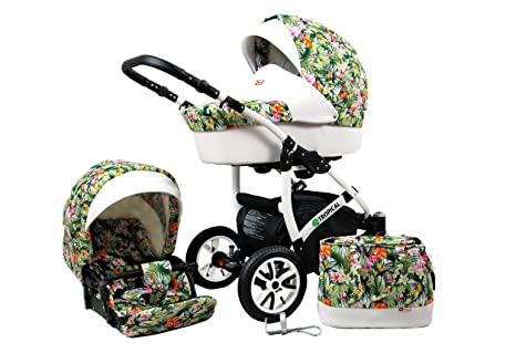 2 en 1 Tropical, Combi Buggy para cochecito de bebé Cochecito Tropical Flowers