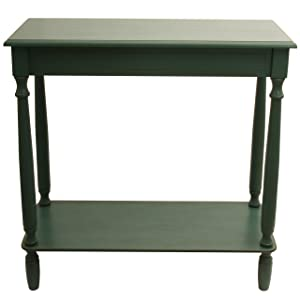 """Décor Therapy FR1801 Console Table, W x 11.8"""" D x 28.25"""" H, Antique Teal"""