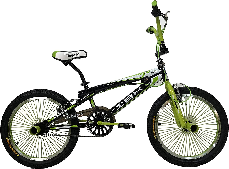 IBK - Bicicleta BMX Freestyle de 20 pulgadas, una única dirección y giro de manillar de 360°, naranja: Amazon.es: Deportes y aire libre