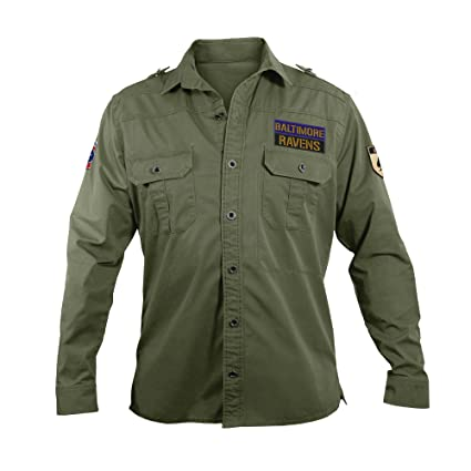 Amazon.com   NFL Men s Military Field Shirt   Sports   Outdoors c4837edaf