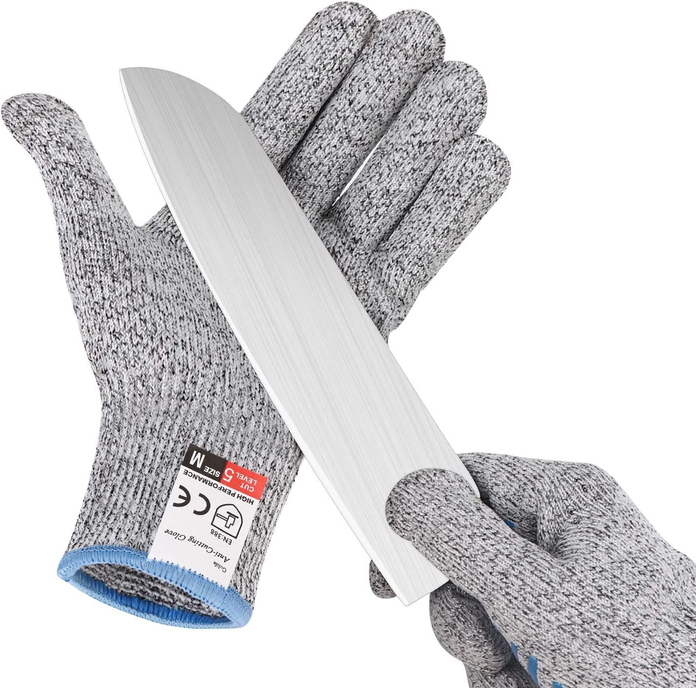 Gülife Cut Resistant Gloves Food Grade Level 5 Protection, Touch Screen Sensitive, Safety Cutting Gloves for Kitchen and Outdoor, Size Medium (1 Pair included)