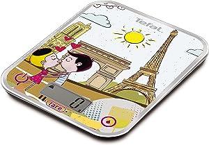 BC5125V0 BC OPTISS Cities Paris Balance de cuisine électronique Verre Multicolore 18 x 2,9 x 23,2 cm