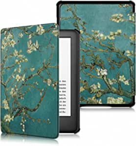 TERSELY Slimshell Case Cover for All-New Kindle Paperwhite 10th Generation-2018 (Model No. PQ94WIF), Smart Shell Cover with Auto Sleep/Wake for Amazon Kindle Paperwhite 10th - Flowers