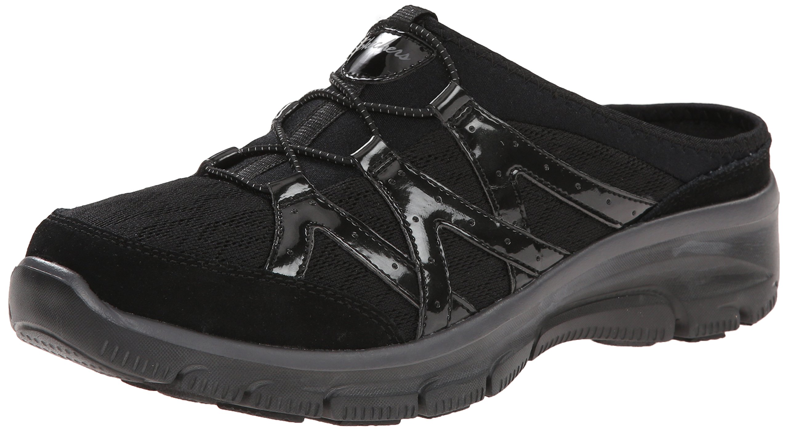 Skechers Women's Easy Going Repute Mule,Black,6.5 M US