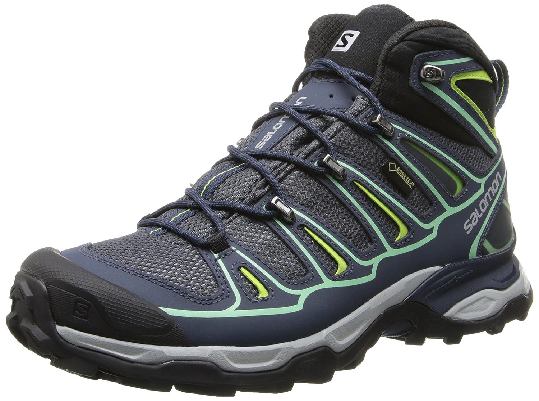 Salomon Women's X Ultra Mid 2 GTX Hiking Shoe B00KWK3YS8 9.5 B(M) US|Grey Denim/Deep Blue/Lucite Green