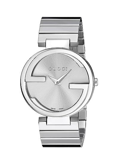 Gucci Reloj Analógico para Mujer de Cuarzo con Correa en Acero Inoxidable YA133308: Amazon.es: Relojes