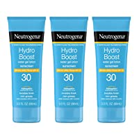 3PK Neutrogena Hydro Boost Water Gel Sunscreen Lotion 3oz