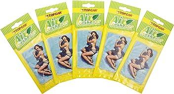 5-er Pack Duftbaum Baby-Puder Aroma Lufterfrischer Auto-Duft babypowder pro Duftabaum bis zu 3 Wochen Duft pin up Girl Extra Frische