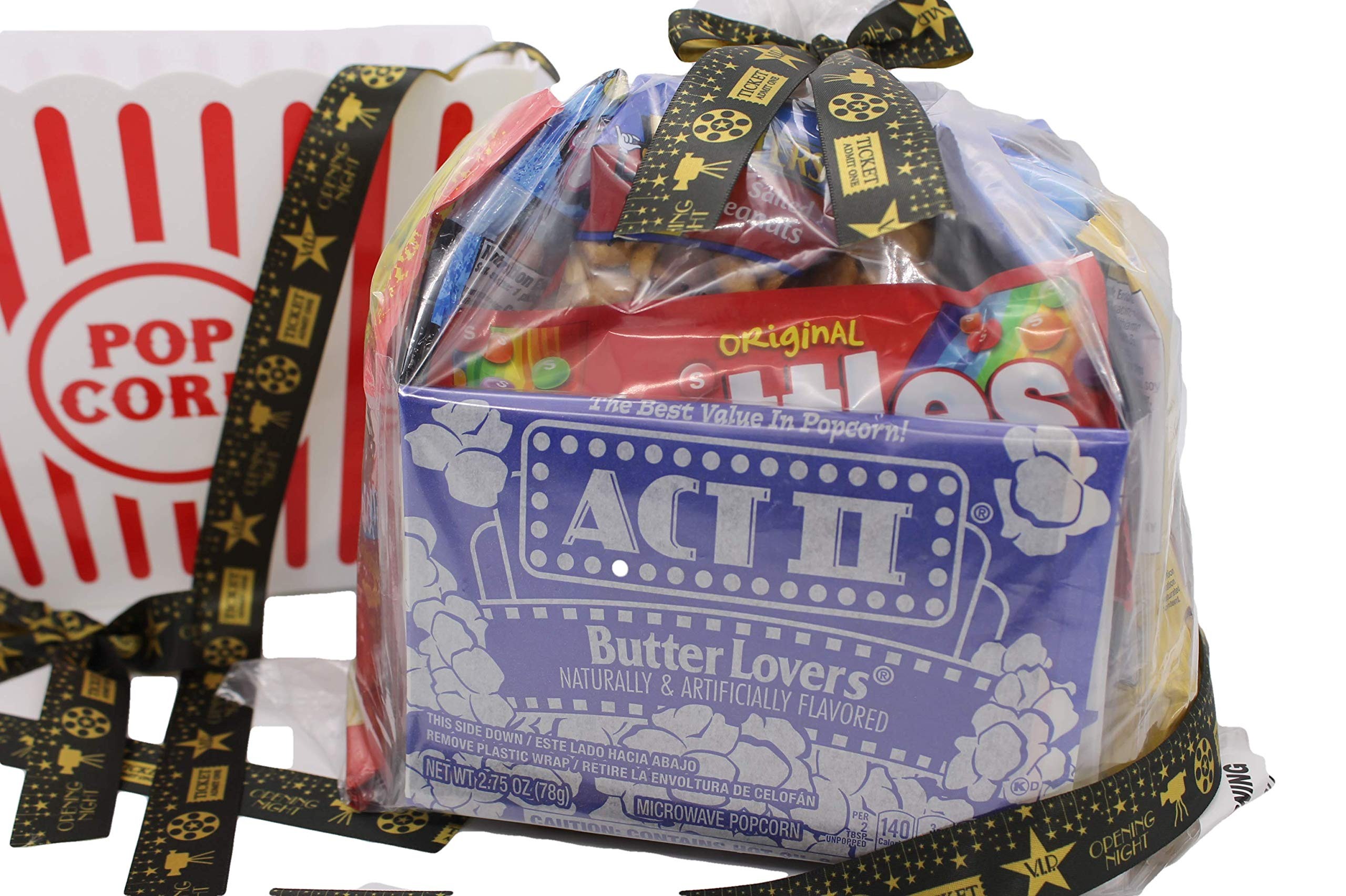 MOVIE NIGHT GIFT BASKET 30 Of Your Favorite Popcorn, Candy Cookies Crackers Perfect Birthday Box Holiday Surprised College Care Package Kids Party Family Movie Night Or A Special Date Night by Tiny Timz (Image #6)