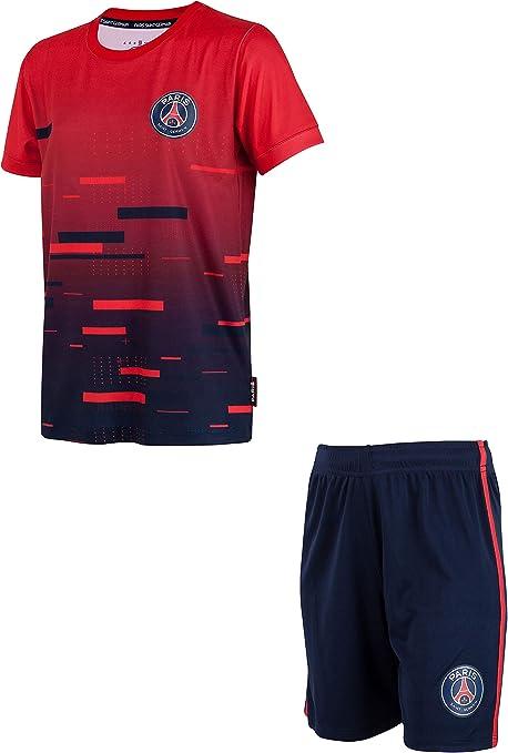 Paris Saint Germain – Conjunto de camiseta pantalón corto del PSG – Colección oficial para niño: Amazon.es: Deportes y aire libre