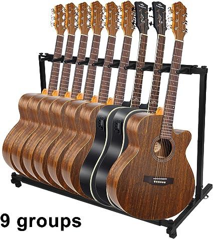 niceao Guitarra soporte de 7/9 aumentos Guitarra soporte plegable ...