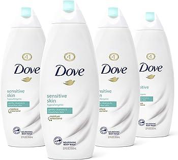 4-Pack Dove Sensitive Skin Body Wash, 22 Fl Oz