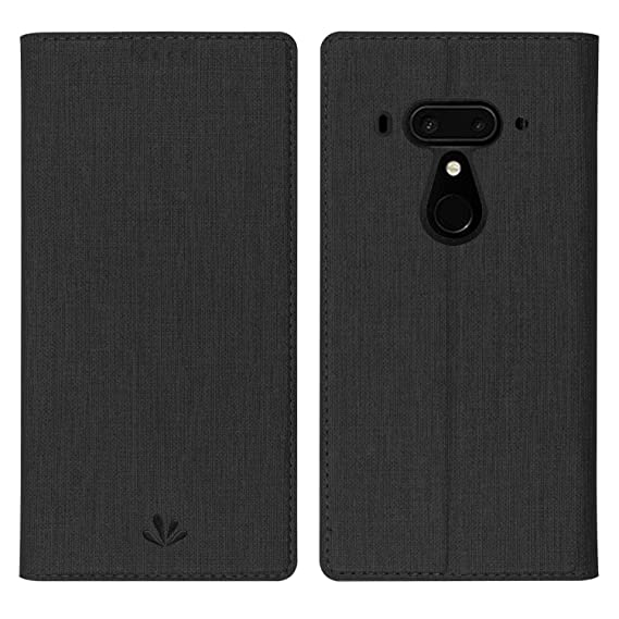 finest selection 24d3d d1101 Simicoo HTC U12 Plus Flip PU Leather Slim Fit case Card Holster Stand  Magnetic Cover Clear Silicone TPU Full body Shockproof Pocket Thin Wallet  Case ...
