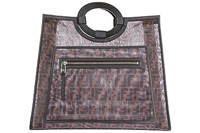 7ab11ef2b9d ... greece fendi womens handbag shopping bag purse runaway brown 7296a  8cc1b ...