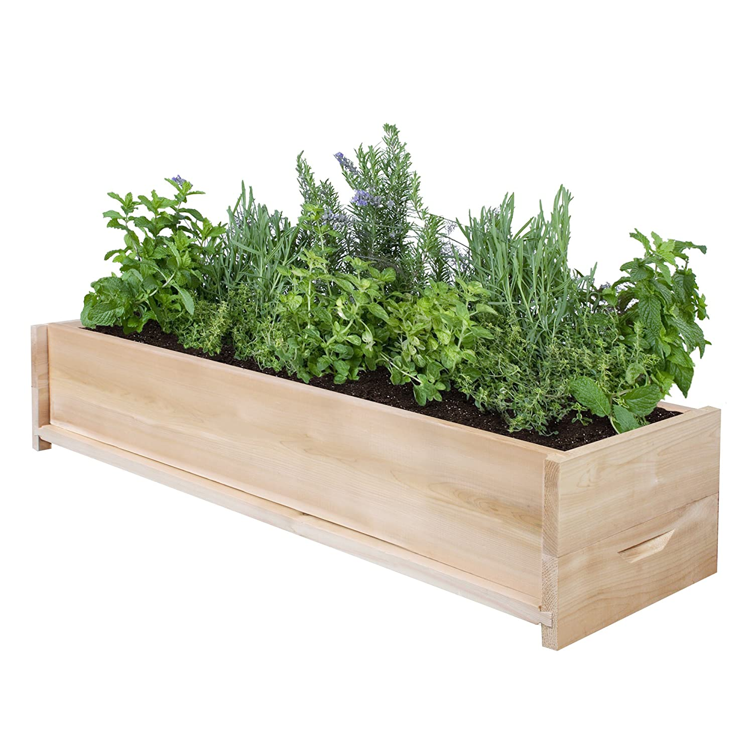 Amazon Com Greenes Fence Cedar Patio Planter Box 36 Inch 1