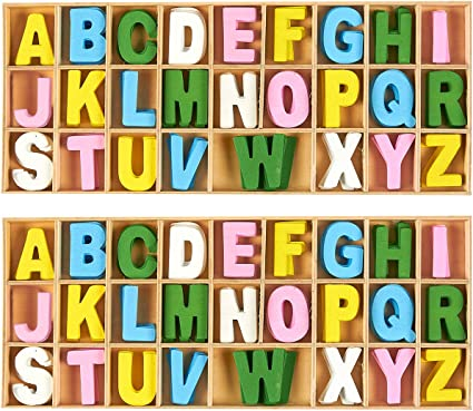 Assorted Colors 50-Piece Wooden Numbers with Storage Tray Kids Learning Toy