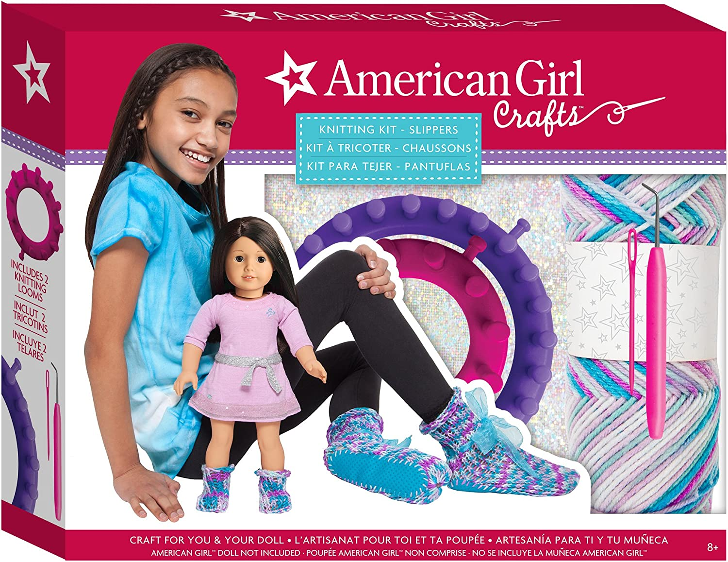 American Girl Doll Kit Friend Ruthie Pajamas Slippers Shoes ONLY